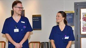 Sofía de Suecia, en el hospital.