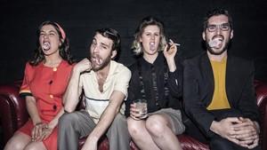 Los cuatro protagonistas de Masticar hielo, en el Teatre Tantarantana.
