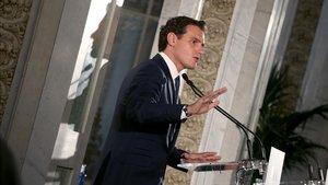 Albert Rivera, durante una intervención en el Casino de Madrid el pasado 30 de octubre.