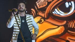 Maluma, en su concierto en el Palau Sant Jordi de septiembre pasado.