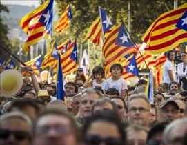Manifestación de la Diada del 2016, enel paseo de Sant Joan de Barcelona.