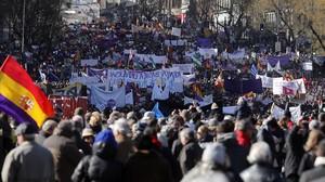 Marcha del Cambio organizada por Podemos en el año 2015.