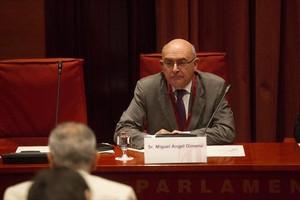Miguel Ángel Gimeno, en su comparecenciaen el Parlament, el pasado 27 de julio.