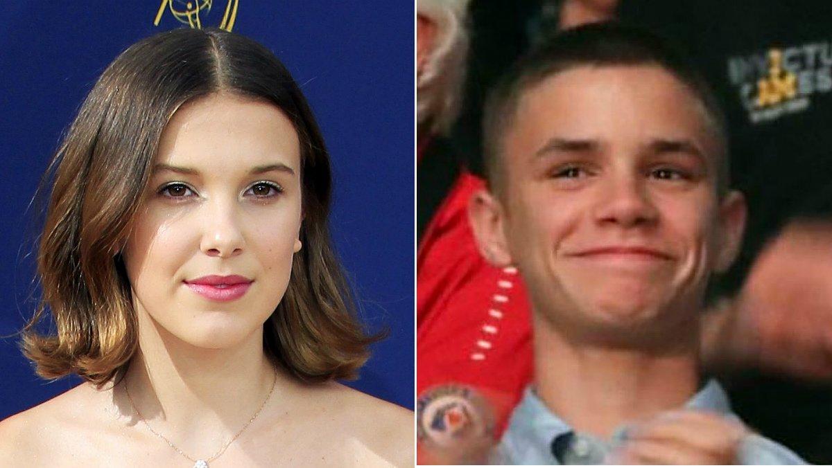 Millie Brobby Brown y Romeo Beckham.