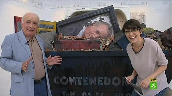 Thais Villas con Cristóbal Toral y su obra, enEl intermedio (La Sexta).