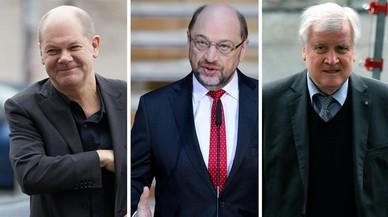 Scholz, Schulz y Seehofer, los tres pesos pesados del nuevo Gobierno alemán