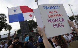 Protestas masivas en Panamá en contra del Gobierno.