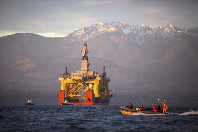 Plataforma petrolífera frente a las costas del estado de Washington, el pasado abril.
