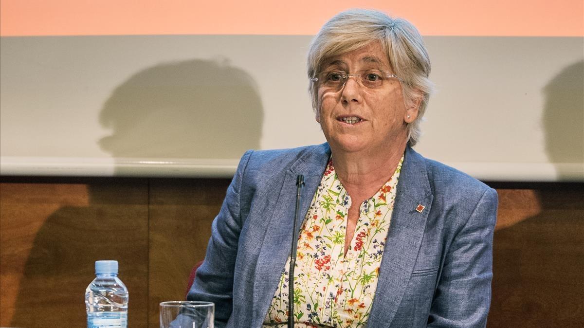 La exconsellera de Ensenyament, Clara Ponsatí.