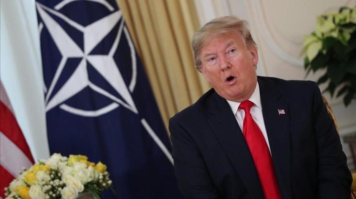 """Trump a Macron: es """"desagradable"""" decir que la OTAN está en """"muerte cerebral"""""""