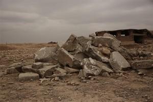 Restos de Nimrud tras el ataque de Estado Islámico.