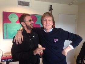 Ringo Starr y McCartney, en la foto que el primero ha colgado en su cuenta de Twitter.