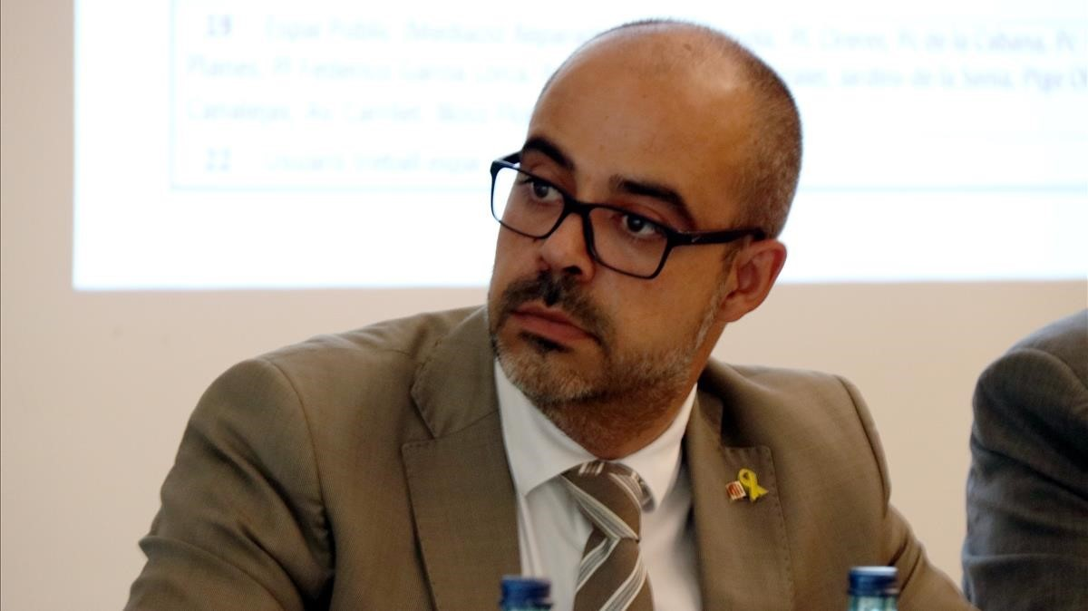 Miquel Buch, 'conseller' de Interior.