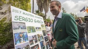 Sergio García, a su llegada al Club de Campo Mediterráneo de Borriol.