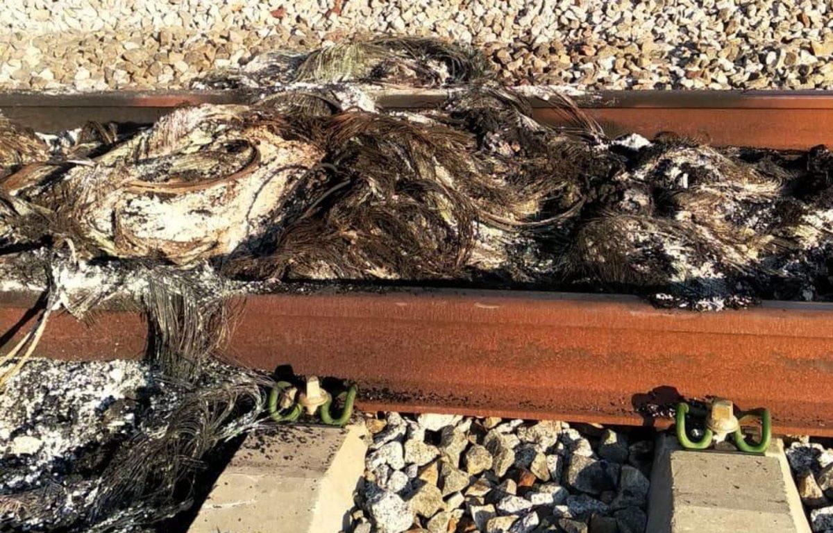La quema de neumáticos sobre una zona de vías de los trenes de alta velocidad entre Girona y Figueres ha provocado una avería en la catenaria, por lo que la circulación ferroviaria ha quedado interrumpida en ese tramo.