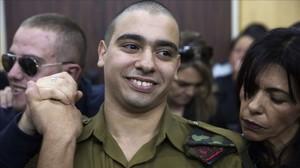 El sargento Elor Azaria en el tribunal antes de que se pronunciasen los jueces.
