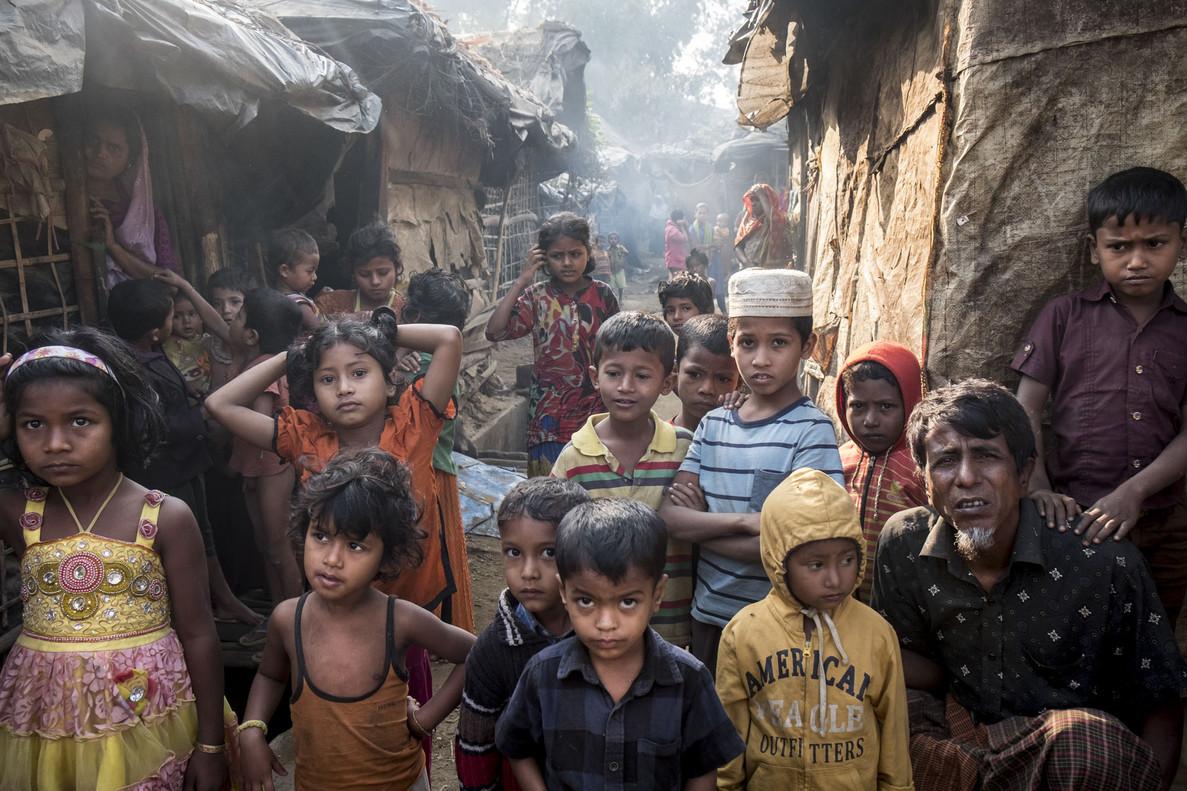 El miedo de los niños rohingya