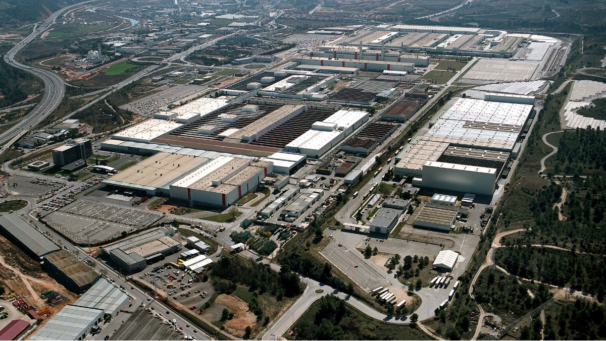 Vista aérea de la planta de la firma automovilística Seat en Martorell (Barcelona).