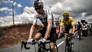 Chris Froome y Geraint Thomas, durante la 15ª etapa del Tour.