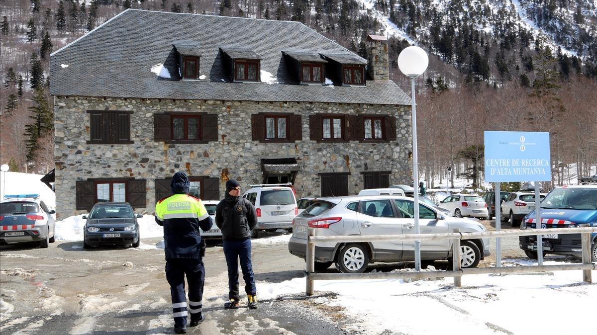 Servicios de rescate en la zona cercana a la Vall de Conangles en la Vall dAran.