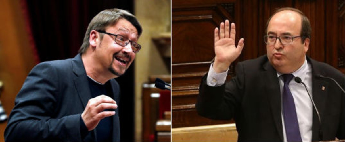 Xavier Domènech (izquierda) y Miquel Iceta.