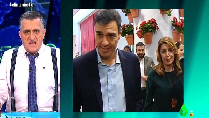 Pedro Sánchez y Susana Díaz, en Sevilla.