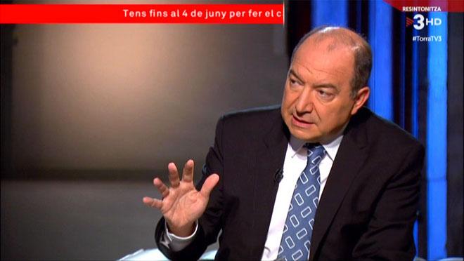 Vicent Sanchis entrevistó a Quim Torra en TV-3..
