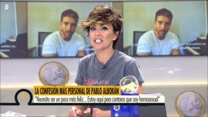 """Sonsoles Ónega, tras la salida del armario de Pablo Alborán: """"Lo siento, porque es guapísimo"""""""