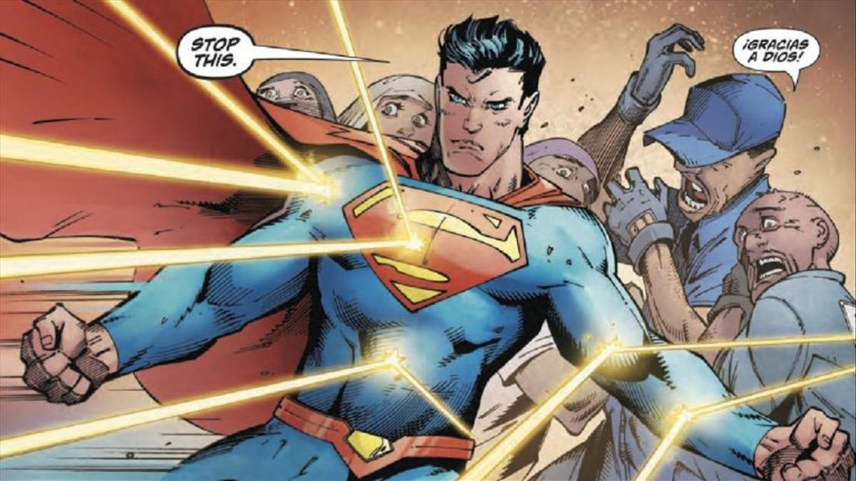 Superman defiende a inmigrantes de un supremacista blanco en el último número de Action Comics.
