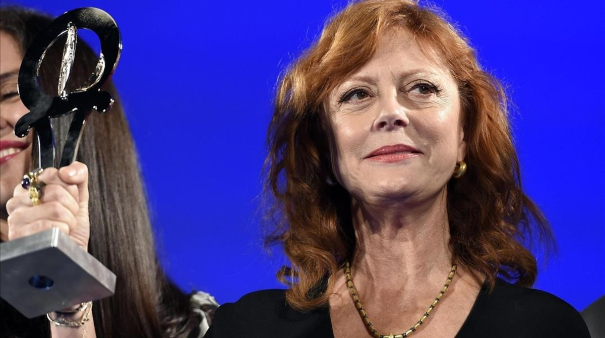 Susan Sarandon, en la entrega de premios en el Festival de Cine de Taormina (Italia), el 12 de junio.