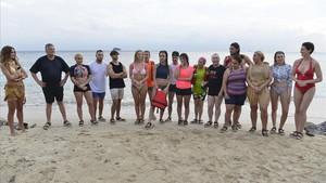 Los concursantes del programa de Tele 5 Supervivientes, en su edición del 2018.