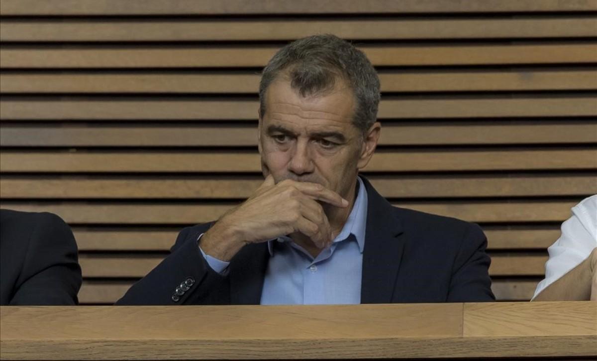Toni Cantó, este martes, en el debate de política general las Corts valencianas.