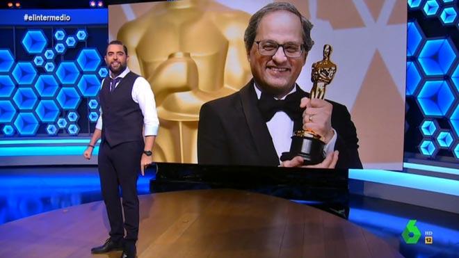 Dani Mateo anunció un 'Oscar' para Torra.