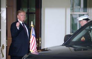 El presidente de los Estados Unidos, Donald Trump, en la Casa Blanca.