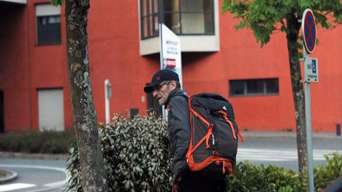 Última imagen de Josu Ternera antes de ser detenido enSallanches (Francia)