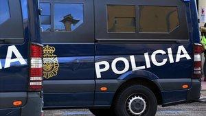 Una furgona de la Policía Nacional.