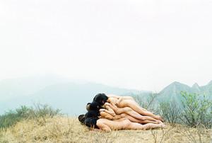 Una de las obras de la exposición 'De com Yukong va moure la muntanya' en Can Castells.