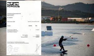 Una de las tres facturas giradas por Igman al Canal Olímpic.