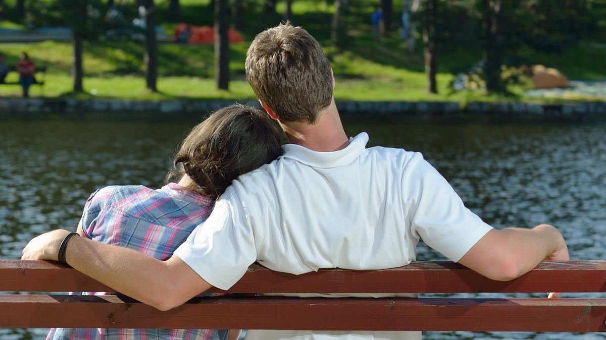 Una pareja adolescente.