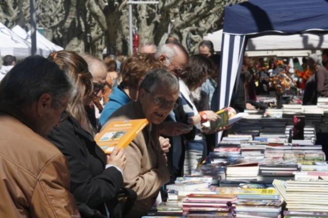 Parada de libros instaladaen el paseo Joan Brudieu de la Seu dUrgell.