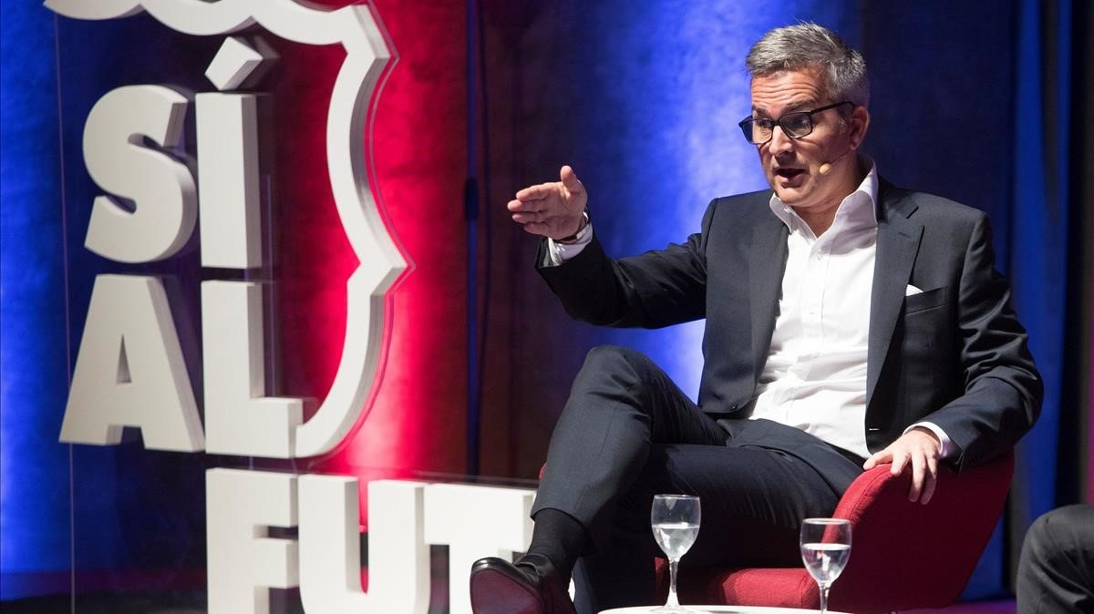 Víctor Font, en el acto de presentación de su proyecto.