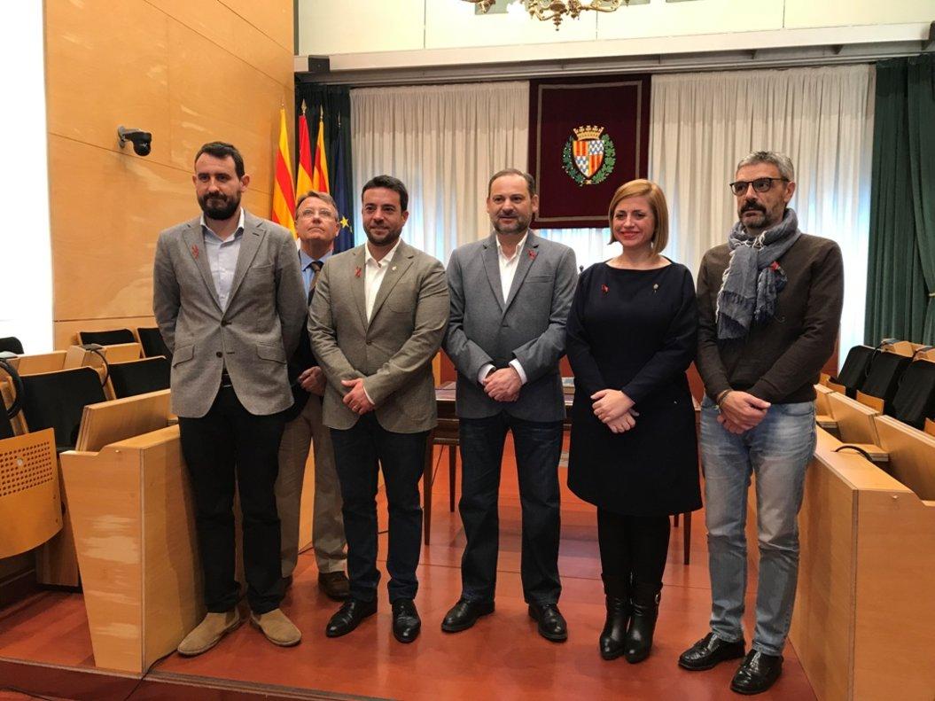 Visita del ministro de Fomento al Ayuntamiento de Badalona.