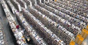 Vista general del principal magatzem d'Amazon a Anglaterra.
