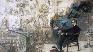 'El sueño de Dickens', obra inacabada de Robert Williams Buss.
