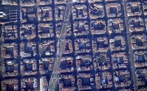 Foto aérea de Barcelona, en 1989.