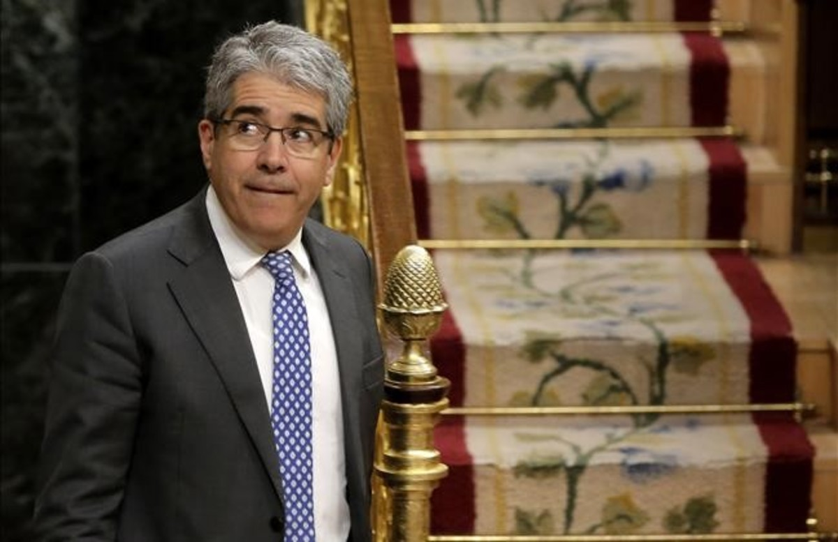 El portavoz de PDECat, Francesc Homs, en el Congreso de los Diputados.