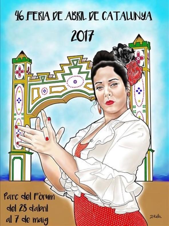 Cartel de la Feria de Abril 2017, diseñado por Daniel Catalán.