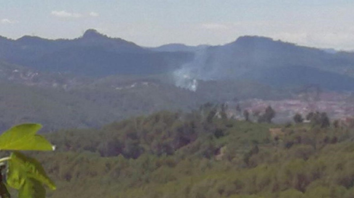 Incendio forestalen Sant Andreu de la Barca (Baix Llobregat).