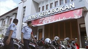Entrada de la cárcel de Kerobokan, en Bali.