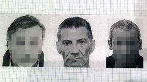 Una fotografía de José Antonio González, en el centro, que se usó para un reconocimiento policial.